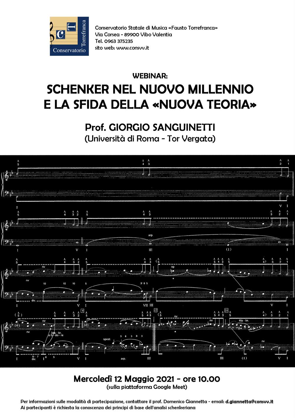 Webinar del prof. Giorgio Sanguinetti